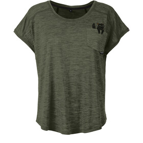 Pally'Hi Foxy Loose fit T-shirt Dames, heather moss